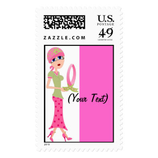 Personalize PinkRibbons Postage Stamp