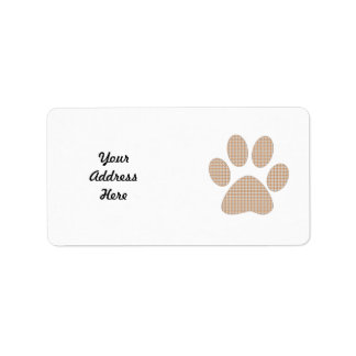 Personalize!!  Plaid Pawprint Gifts and Tees Label