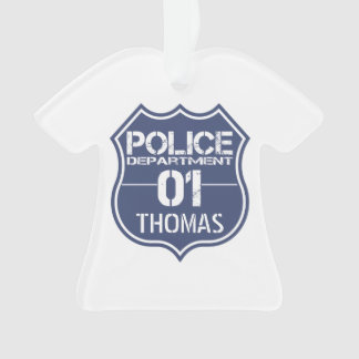 Personalize Police Department Shield 01 - Any Name
