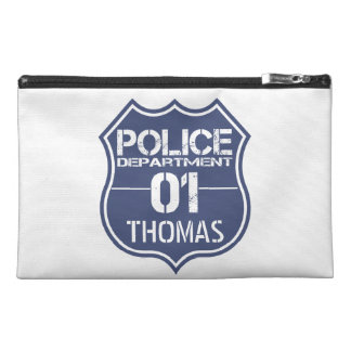 Personalize Police Department Shield 01 - Any Name Travel Accessories Bags