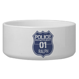 Personalize Police Department Shield 01 - Any Name Bowl