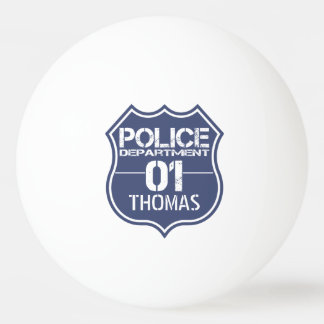 Personalize Police Department Shield 01 - Any Name Ping-Pong Ball
