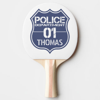 Personalize Police Department Shield 01 - Any Name Ping-Pong Paddle