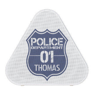 Personalize Police Department Shield 01 - Any Name Speaker