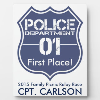 Personalize Police Department Shield 01 Trophy Plaque