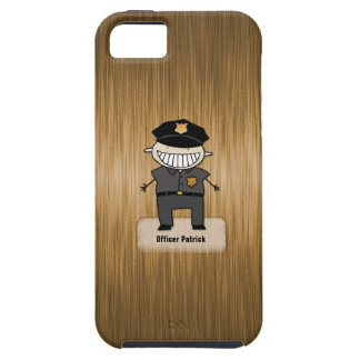 Personalize Police Officer Cartoon Cop Custom Name iPhone SE/5/5s Case