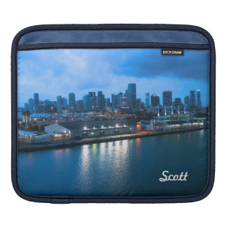 Personalize Port of Miami Skyline Photo Sleeve For iPads