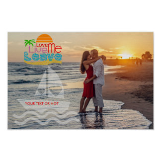 Personalize Poster/Sea Sun Beach/Your picture Poster