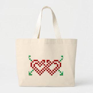 Personalize Pretty Hearts Tote Bag