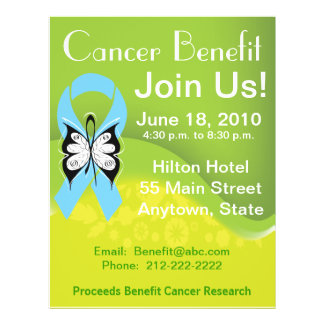 Personalize Prostate Cancer Fundraising Benefit Personalized Flyer