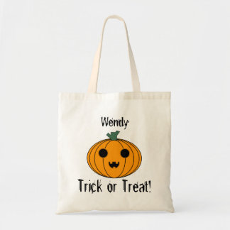 Personalize Pumpkin Trick or Treat Bag