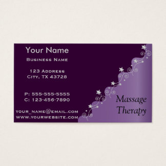 Personalize Purple Elegance Business Card