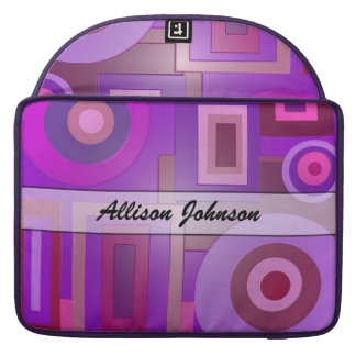 Personalize Purple Geometric shapes MacBook Pro Sleeve