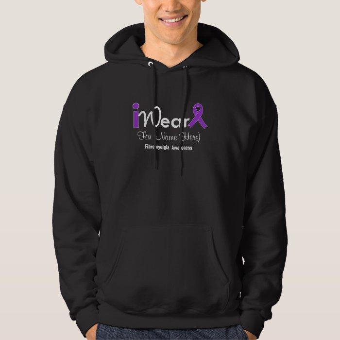 Personalize Purple Ribbon Fibromyalgia Hoodie