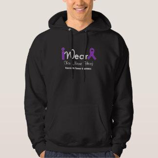 Personalize Purple Ribbon Pancreatic Cancer Hoodie