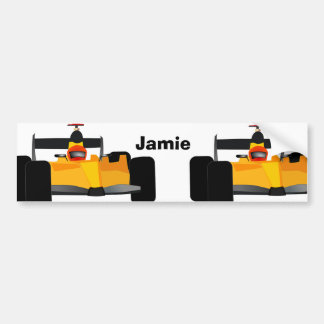 Personalize Race Car Birthday Party Gifts Bumper Sticker