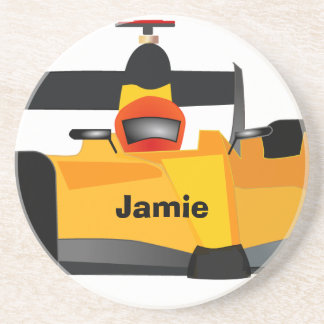 Personalize Race Car Birthday Party Gifts Drink Coaster