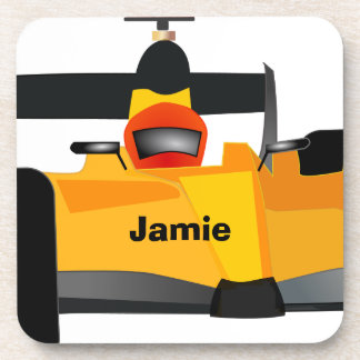 Personalize Race Car Birthday Party Gifts Beverage Coasters