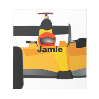 Personalize Race Car Birthday Party Gifts Memo Note Pads