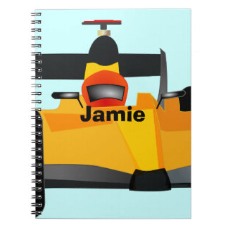 Personalize Race Car Birthday Party Gifts Spiral Notebook
