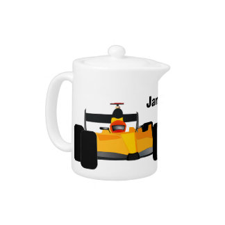Personalize Race Car Birthday Party Gifts Teapot