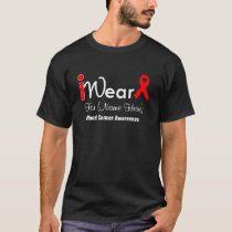 Personalize Red Ribbon Blood Cancer T-Shirt