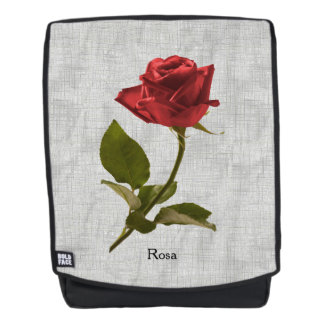 Personalize: Red Rose Floral Photography Cut Out Backpack