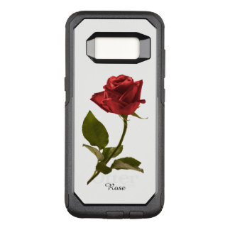 Personalize:  Red Rose Nature Photography OtterBox Commuter Samsung Galaxy S8 Case