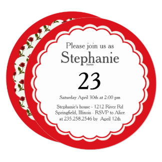Personalize: Red Roses Floral Photography Card