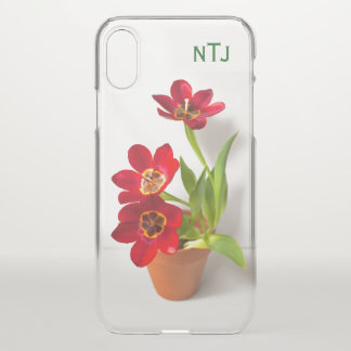 Personalize:  Red Tulips Floral Photography iPhone X Case