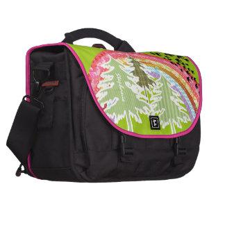 Personalize Retro Rainbow Pine Tree Collage Laptop Laptop Bags