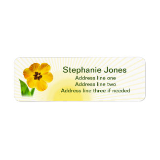 Personalize: Return Address Yellow Tulips Picture Label