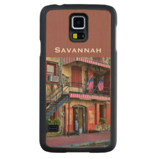 Personalize:  River Street, Savannah Georgia Carved® Maple Galaxy S5 Case