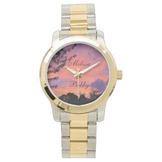 *Personalize* romántico de los relojes de la