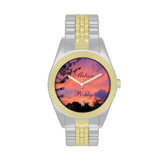 *Personalize* romántico de los relojes de la puest
