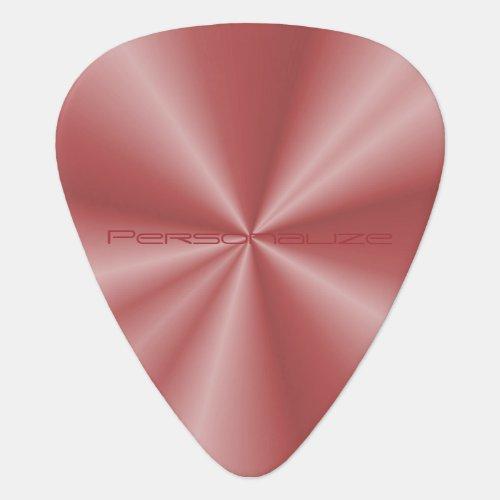Personalize Rose Gold Metallic Design Print Guitar Pick