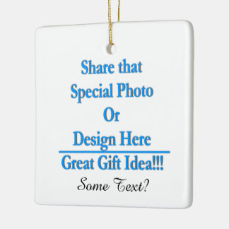 Personalize Same Image\Text Both Sides Black Text Ceramic Ornament