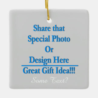 Personalize Same Image\Text Both Sides White Text Ceramic Ornament