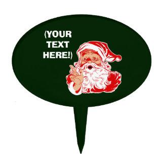 Personalize Santa Claus Cake Topper