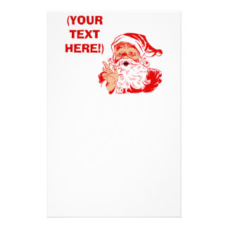 Personalize Santa Claus Stationery