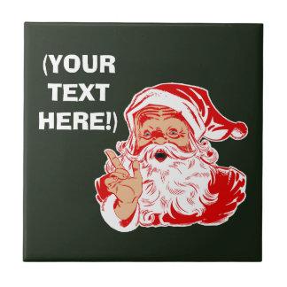 Personalize Santa Claus Tile