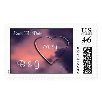 Personalize Save The Dates Postage Stamp