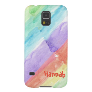 Personalize Seamless Watercolor Pattern Case For Galaxy S5
