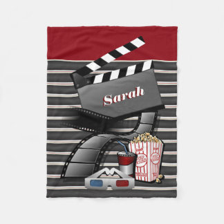 Personalize Show Time Movie Pictures Fleece Blanket