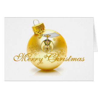 Personalize Shriner Christmas Greetings Card