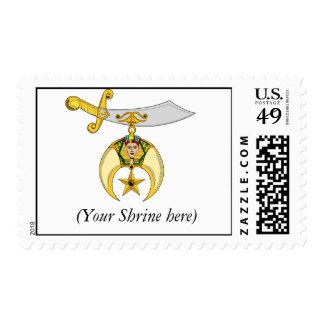 Personalize Shriners Emblem Postage