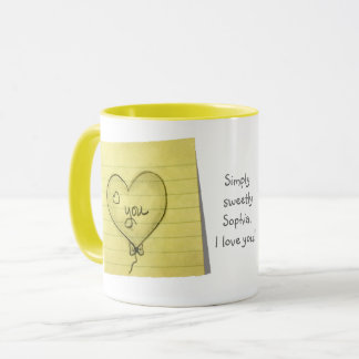 Personalize: Simply Sweetly Hand Drawn Hearts Mug