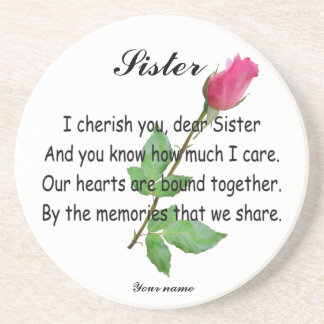 PERSONALIZE SISTER-COASTER DRINK COASTER