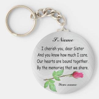 PERSONALIZE SISTER-KEYCHAIN BASIC ROUND BUTTON KEYCHAIN