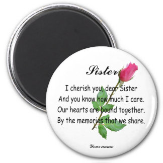 PERSONALIZE SISTER -MAGNET MAGNET